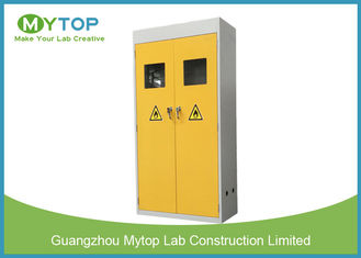 Yellow Safety Fire Rated Gas Cylinder Storage Cabinet With Alarm 900 mm Width