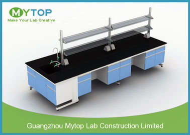 All Steel C Frame Science Lab Tables For Schools , Physics Lab Furniture 3000 X1500 mm
