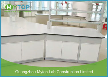 Steel Modern Laboratory Furniture Epoxy Coating Lab Workbench Impact Resistance